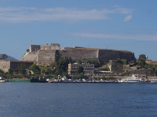 Korfu, Grekland: vecchio forte