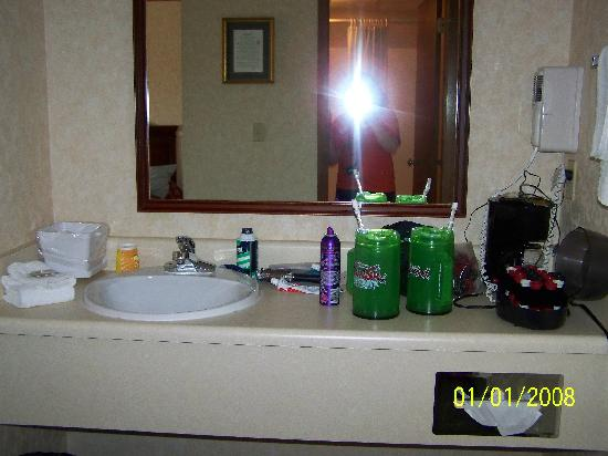 Park Tower Inn: Vanity Area