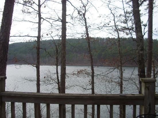 Mountain Pine, AR: View from Deck cabin 6