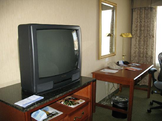 Hilton Garden Inn San Jose/Milpitas: desk/tv area