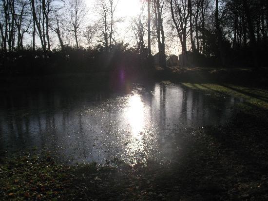 Le Château de Bazeilles : Un matin calme d'hiver.