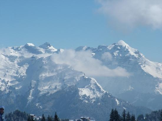 Distant view from balcony of Chalet Morillon
