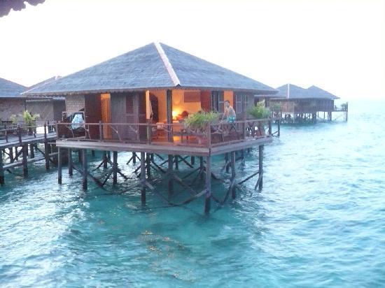 Sipadan Water Village Resort: water bungalow at sunset
