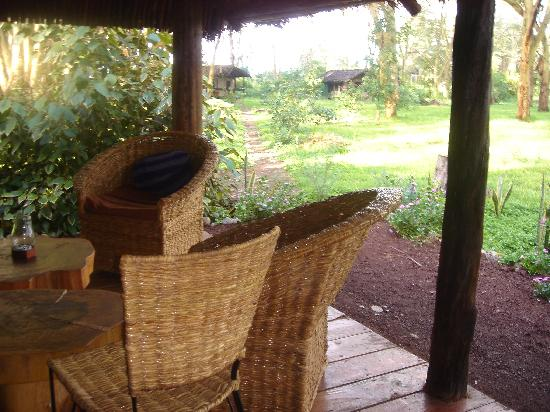 Migunga Tented Camp: Dining Room Porch