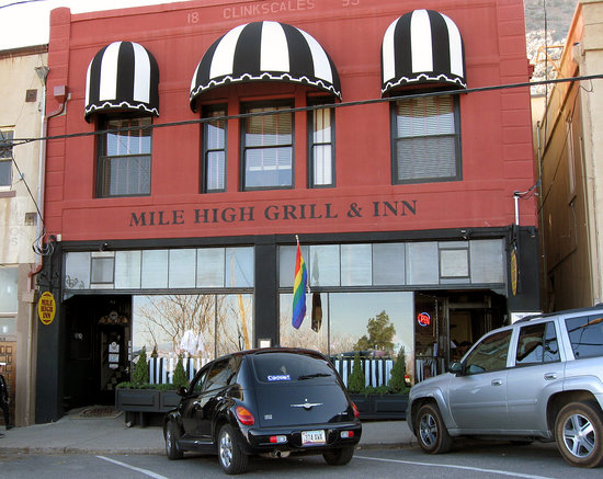 The Mile High Inn and Grill from Main Street.