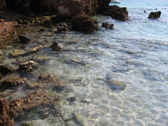Son Bou, Hiszpania: Spiaggia verso gli scogli