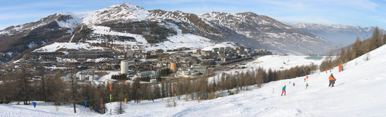 sestriere village landscape