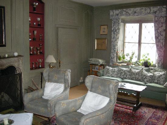 Villa Mellon: The living room