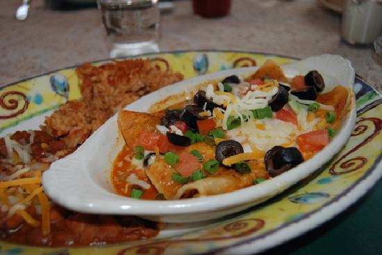 Chicken Enchilada at Lily's, Mt. Shasta, CA