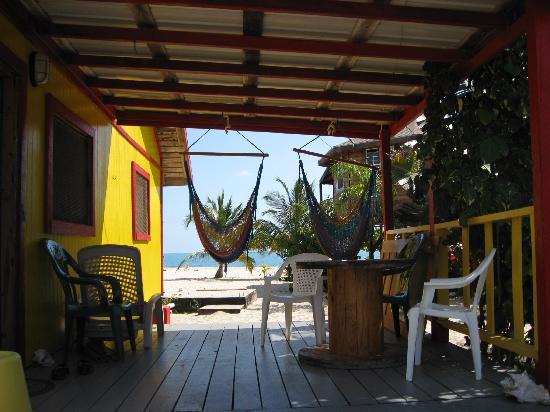 Toucan Lulu Beach Units: View from Tucan Lulu 1's Porch