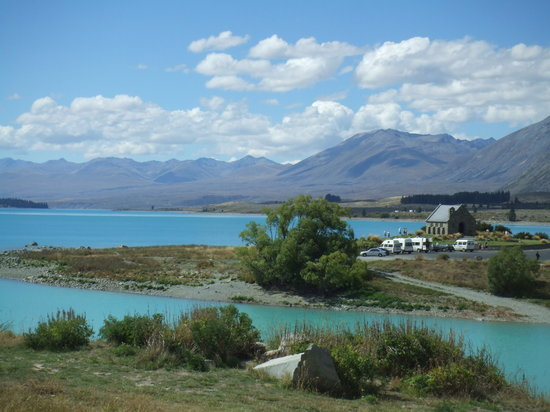 Lake Tekapo, New Zealand: The church by the lake