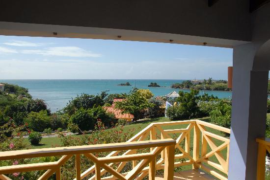 True Blue Bay Boutique Resort: View from Bayview Room Balcony