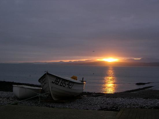 Moelfre on Anglesey - looking towards Snowdon -  morning sunrise