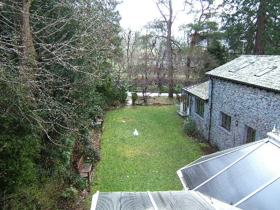 garden view from Iris suite, Oak bank hotel