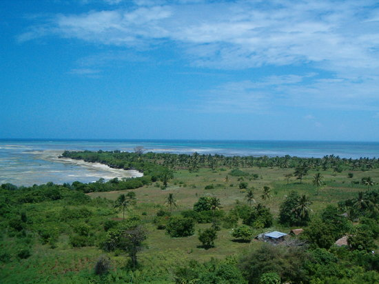 Остров Пемба, Танзания: View of the most NorthWestern Point of Pemba from the lighthouse