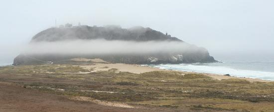 Point Sur State Historic Park: Point Sur wrapped in fog