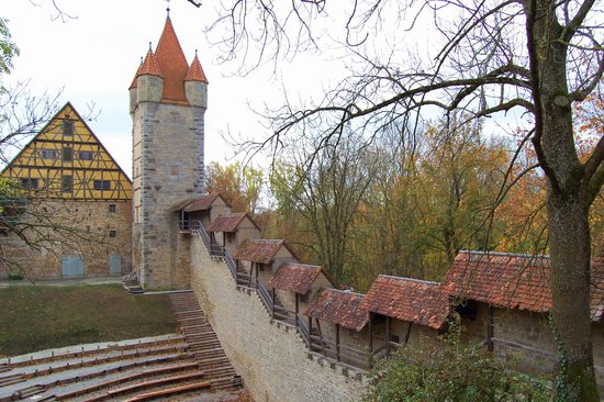 Rothenburg, Tyskland: the stepped wall
