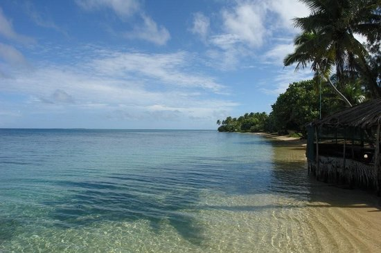 Nuku'alofa, Tonga: Pangaimotu Beach on a sunny day