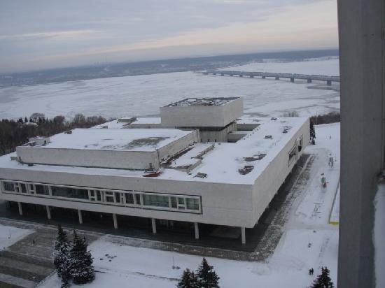 Ulyanovsk, Russia: Leninmemoral-Komplex mit Blick zur Wolga