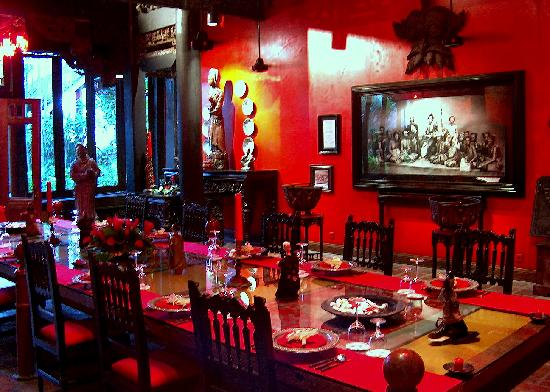 Hotel Tugu Bali: the royal dining room
