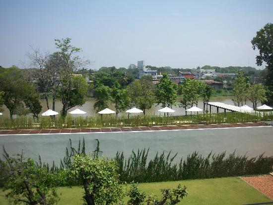 Anantara Chiang Mai Resort: The Chedi: View from suite 412 (Looking at toward the pool and river beyond)