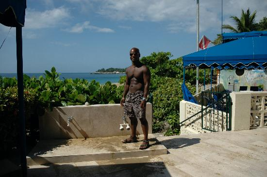 Sosua by the Sea: Me from the patio of SBTS...