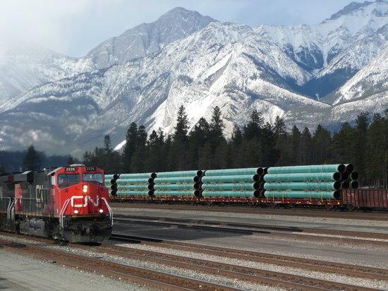 Jasper, كندا: train