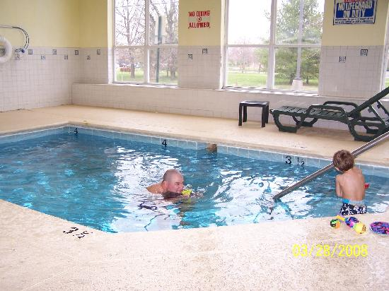 Country Inn & Suites By Carlson, Murfreesboro: Overall Size of the pool, about twice as long as the lounger  chair
