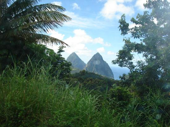 St. Lucia: Our first view of the Pitons