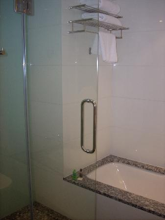 Park Plaza County Hall London: Seperate Glass Shower and Bath