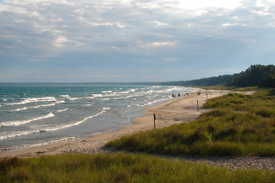 Door County, Ουισκόνσιν: View of Lake Michigan at Whitefish Dunes State Park