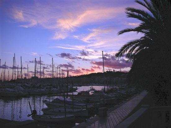 Palma de Mallorca, Spain: sunset over the marina