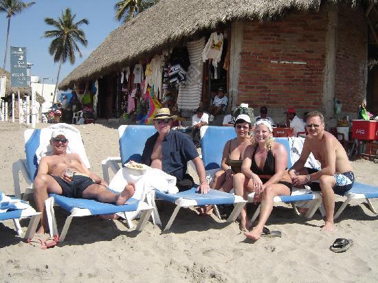 Hacienda Buenaventura Hotel & Mexican Charm All Inclusive: the beach club with some fellow Albertans