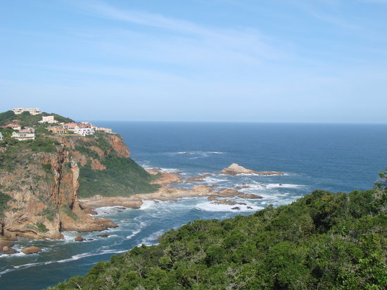 Knysna, Republika Południowej Afryki: view of the heads and entrance to indian oceon