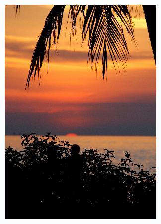 The Santosa Villas & Resort: Sunset from the pool bar