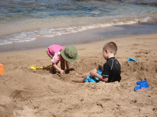 Nohonani Condos: The private beach is great for kids