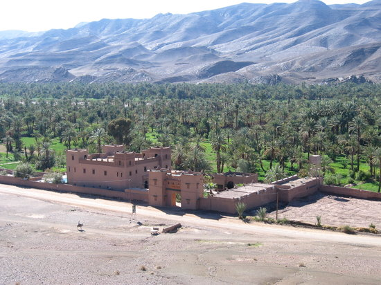 Agdz, Morocco: Kasbah viewed from Ksour Tamnougalt