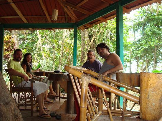 At Agapi, morning coffee