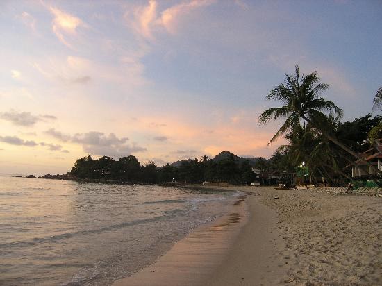 Sans Souci Samui: The beach at sunset
