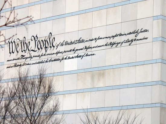 Philadelphia, PA: writings on the wall of a building across the Mint