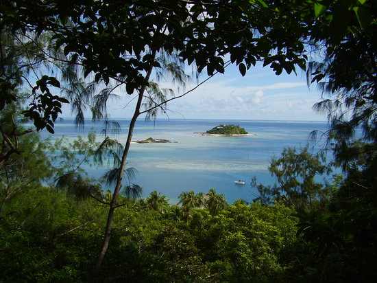 Malolo Island, Fiji: View from hill above the resort