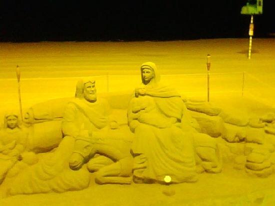 Benilux Park Hotel: amazing sand sculpture