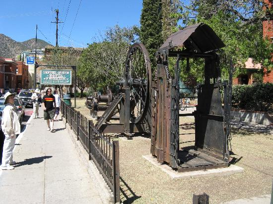 Hotel San Ramon : Front of mining museum, what made the town.