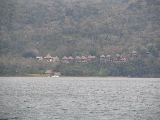 Camino Real Tikal: View of the hotel from Lake Peten