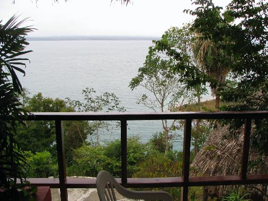 Camino Real Tikal: View of Lake Peten from our terrace