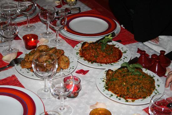 Riad Dalla Santa: Dîner au riad préparé par Aicha