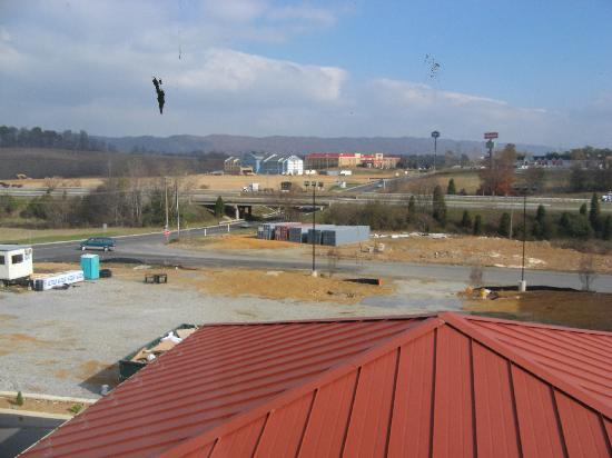 Comfort Suites Wytheville: View from our hotel window