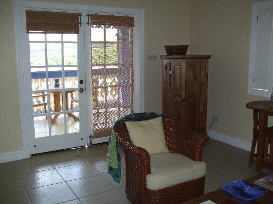 Saint David Parish, Grenada: Living Room Looking out to Veranda