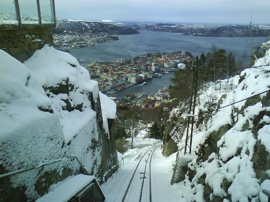 Bergen, Norway: Des del tren