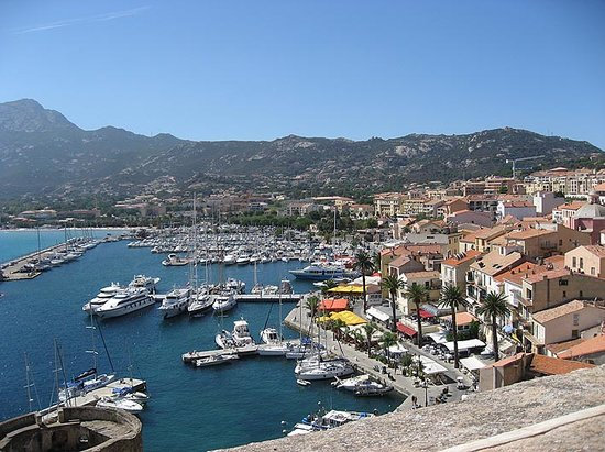 Calvi, Francia: Harbour from Citadel